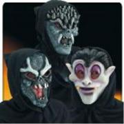Maschera Alieno in fingomma in busta con cavallotto
