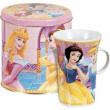 Portabiscotti in latta con tazza Principesse
