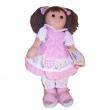 Bambola Vichy Rosa con Ricamo My Doll cm. 42