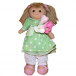 Bambola Mini Vestito Verde a Pois con Rose My Doll cm. 32