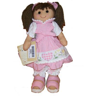Bambola Mini Vichy Rosa con Ricamo My Doll cm. 32