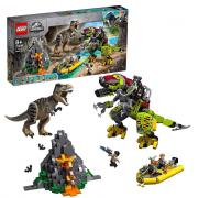 Lego Jurassic World Battaglia Tra T. Rex E Dino Mech 75938