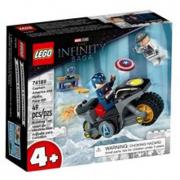 Scontro tra Captain America e Hydra- Lego Super Heroes
