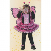 Lady Butterfly costume 3/4 anni