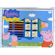 Peppa Pig timbrini e pennarelli