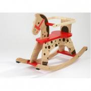 Cavallo a dondolo in legno con sostegno estraibile Janod