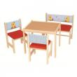 Tavolo 2 sedie e panca in legno Roba