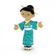 Bambola pezza giapponese Kaori cm. 30 Trudi