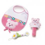 Gift set Pappa e gioco rosa Trudi
