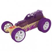 Auto in bambù viola da corsa