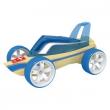 Auto in bambù blu