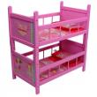 Letto a castello in legno rosa per bambole