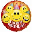 Palloncino elio foil Happy Birthday 46 cm