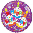 Pallone foil elio Muffin happy birthday 46cm