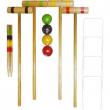 Croquet in legno con 4 mazze