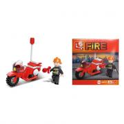 Moto dei pompieri B0327 25 pezzi