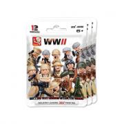 Bustina con soldato seconda guerra mondiale