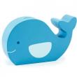 Balena blu salvadanaio in legno