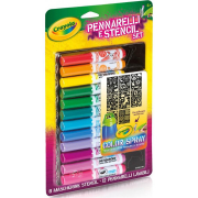 Pennarelli & Stencil Set ricarica color spray