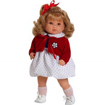 Bambola Sandra 42cm giacca rossa