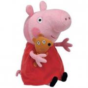 Peppa Pig peluche Peppa Pig con Teddy orsetto cm. 18