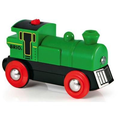 Locomotiva a batteria verde Brio