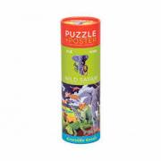 Puzzle e poster 100 pezzi safari