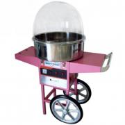 Macchina zucchero filato professionale con cupola e carrello