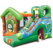 Castello gonfiabile pluriaccessoriato Jungle Fun