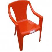 Sedia per bimbi in plastica rossa