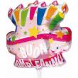 Pallone foil Buon Compleanno torta rosa cm. 75x75