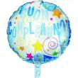 """Pallone elio """"Buon compleanno"""" azzurro rotondo cm. 46"""