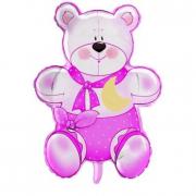 Pallone Orsetto 75 Cm. Teddy rosa