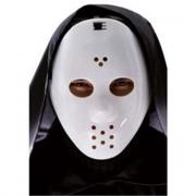 Maschera hockey bianca in plastica rigida