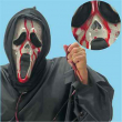 Maschera fantasma sanguinolenta con cappuccio