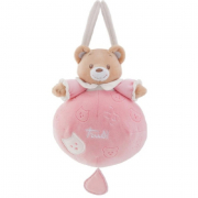 Carillon orsetto culla rosa 20cm