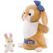 Marionetta Coniglia con coniglietto cm. 28 Trudi