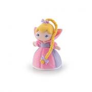 Bambola in pezza rosa con treccia 24cm