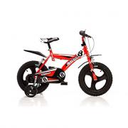 "Bicicletta boy bimbo rossa 16"""