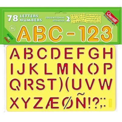 ABC 123 stencils