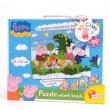 Peppa Pig puzzle velvet touch Il fantastico mondo di Peppa