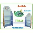Scaffale 3 mensole in legno Trilly