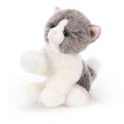 Biagio gattino peluche bianco grigio 30cm