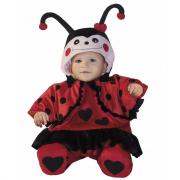 Coccinellina costume carnevale 6/9 mesi