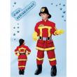 "Costume Pompiere ""Fire department"" tg. 3/4 anni"