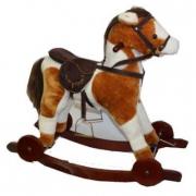 Cavallo a dondolo sonoro con ruote