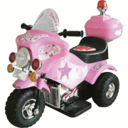 Moto police rosa 6V