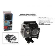 Action camera con accessori