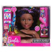 Testa barbie bruna da pettinare