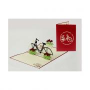 Biglietto auguri origami bicicletta